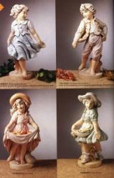 diverse Figuren aus Kunststein