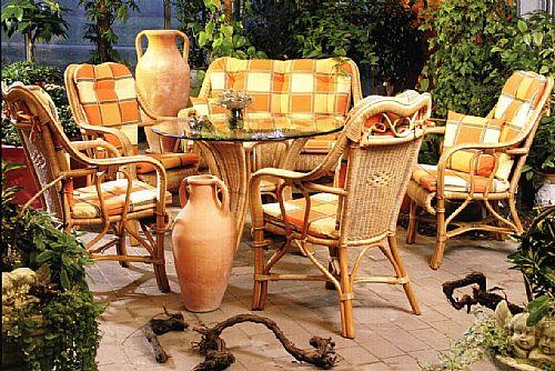 Rattan-SET Jambi/B der Favorit bei unseren Wintergartenmöbeln