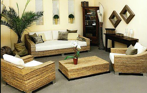 anwo rattanm bel wintergartenm bel bananenblatt set. Black Bedroom Furniture Sets. Home Design Ideas
