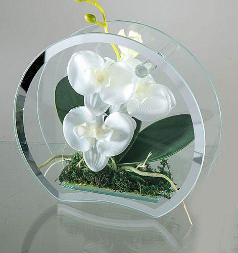 Glasobjekt Orchidee