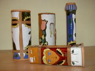 Keramikvasen in diversen Formen