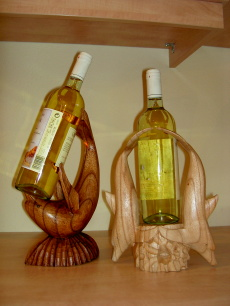 Flaschenhalter Holzdelfin