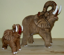 Keramikelefanten aus Peru